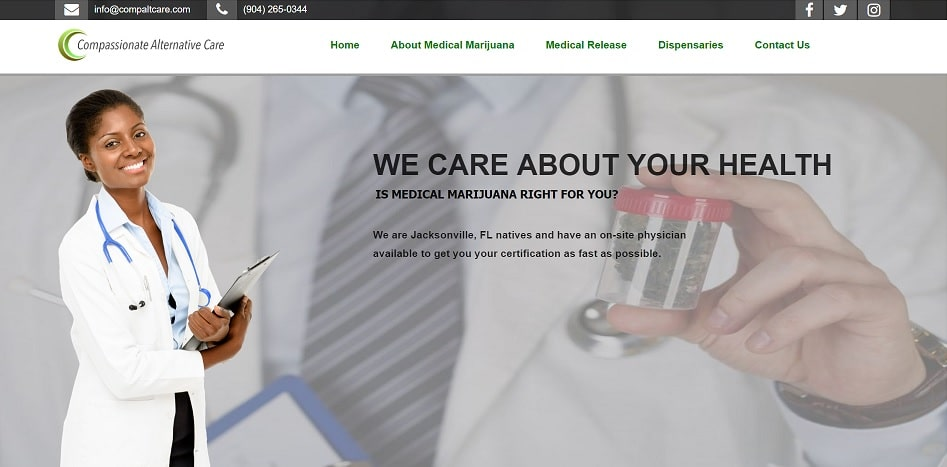 Medical Marijuana Doctor Website Template