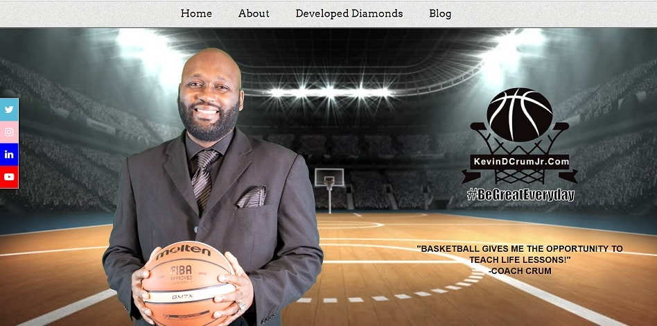 Basketball Coach Website Design Template