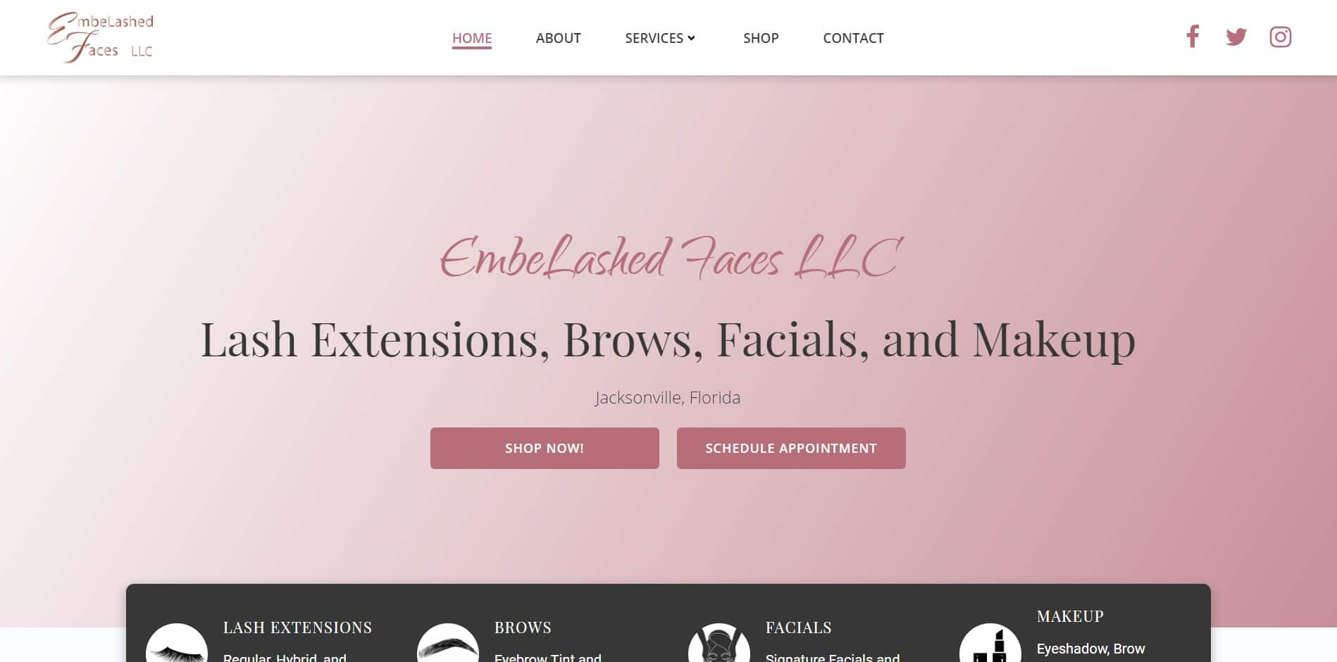 Hair Beauty Website Design Template