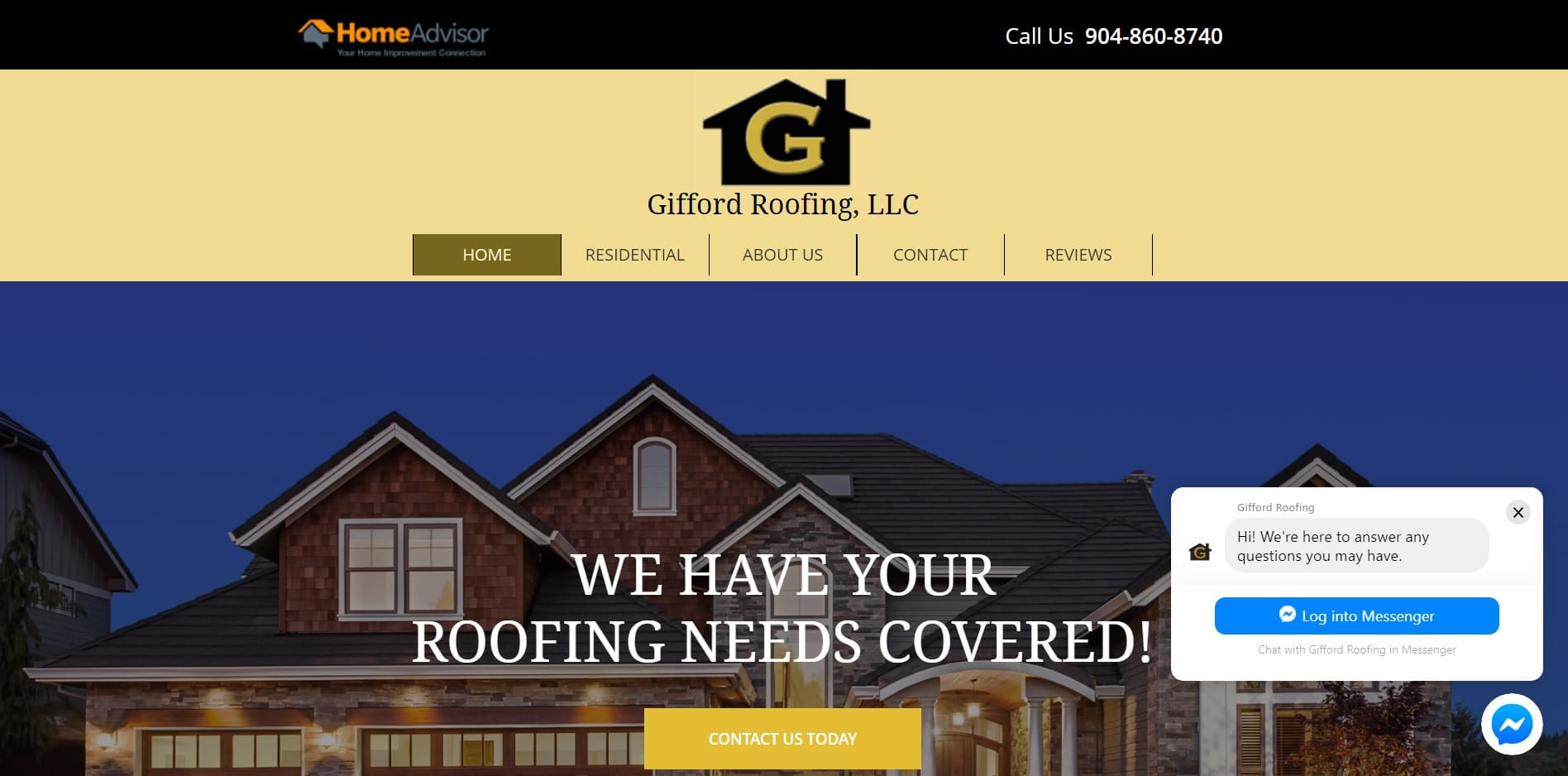 Roofing Company Website Design Template