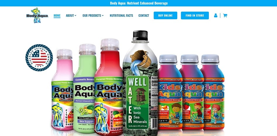 Body Aqua Web Design